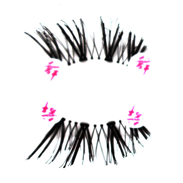 10 Pairs Half Mink Coner Winged Cross Natural / Thick False Eyelashes Soft Eye Lashes Handmade Soft Eye Make up Extension Tools 4