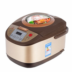 OLOEY Electric Rice Cooker 5L Timing Reservation Food Heating Pressure Cooking Steamer 2-8 People Soup Stew Pot Cake 24H EU US