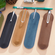 Genuine Leather Pencil Bag Handmade Cowhide Pen Storage Retro Vintage Style Accessories For Notebook