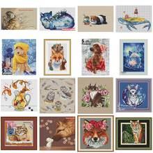 В виде кота, собаки, тигра, крест накрест и Стич: Охана-Набор для вышивки электронный рисунок Крест стич рукоделие PDF по электронной почте
