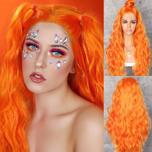 Beautytown peruca de cabelo encaracolado, laranja amarelo natural encaracolado resistente ao calor mulheres maquiagem festa de casamento presente diária