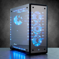 Corsair Crystal 570X RGB Mid Tower Case, 3 RGB Fans, Tempered Glass Computer Cases & Towers Black CC 9011098 WW