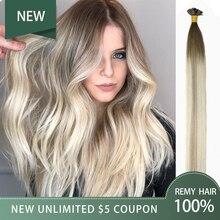 HiArt, 0,5 г/шт., накладные волосы на плоских кончиках, натуральные человеческие волосы remy для наращивания, накладные волосы для салона