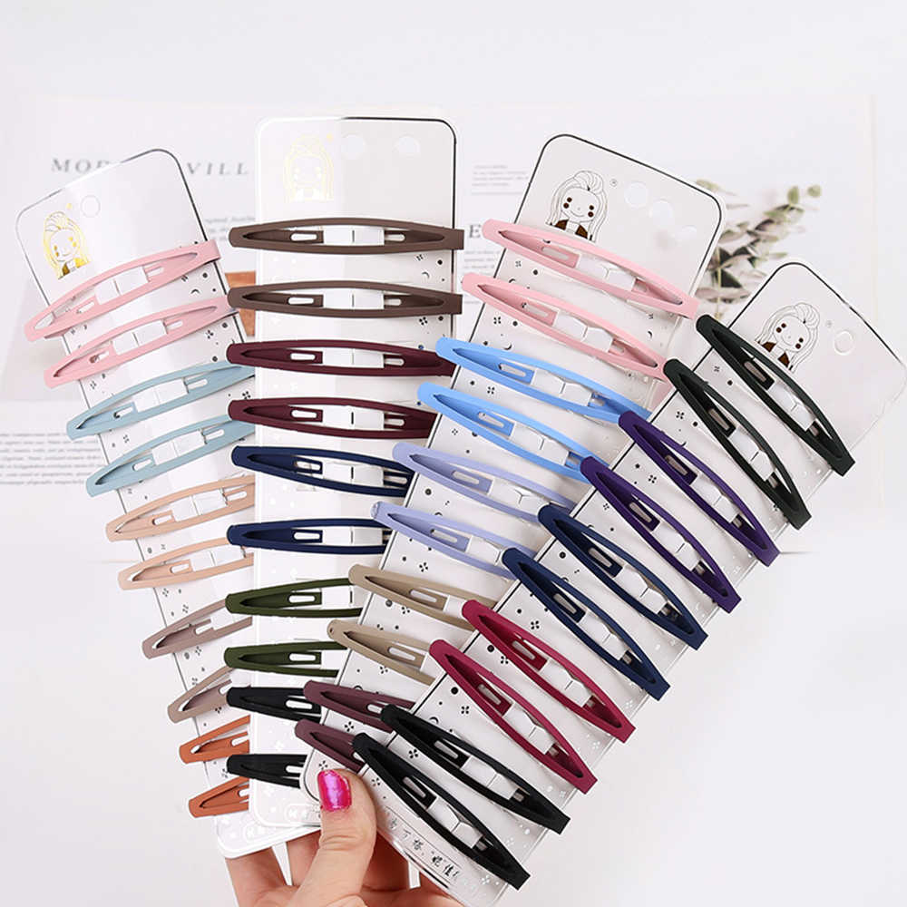 Hair Accessories Girls BB Hairpins Candy Color Baby Hairgrip Snap Hair Clips