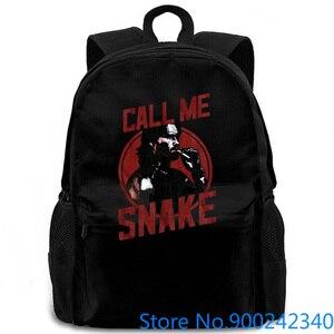 Escape de Nueva York, Call Me Snake, gran película para adultos, diseños geniales, mochila para hombre y mujer, mochila para ordenador portátil de viaje y escuela