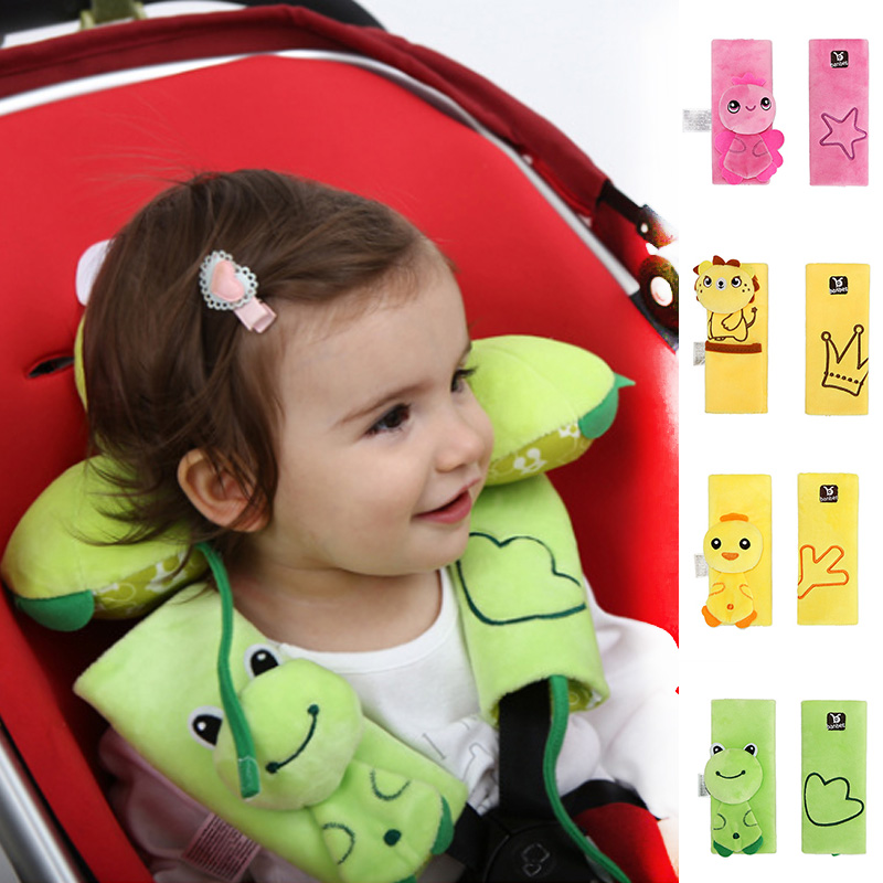 Baby Car Seat Belt Cover Cute Cartoon Child Car Seat Belt Shoulder Guard Wear Protection Pad For Baby Seat