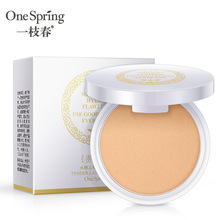 one spring Pressed Mineral Powder Compact Face Powder Palette Cosmetics Makeup Long Lasting Brightening Whitening Contouring iman cosmetics luxury pressed powder earth dark