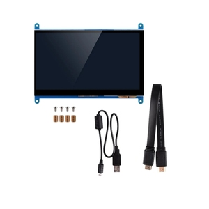 7 Inch Full View LCD IPS Press Screen 1024X600 HD HDMI Display Monitor for Raspberry Pi