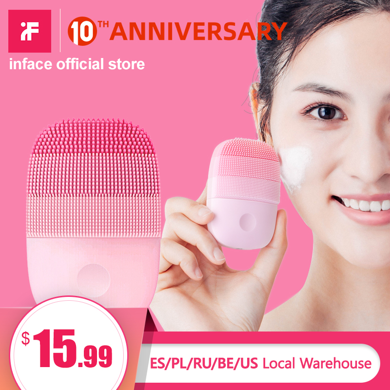 InFace Facial Cleaning Brush Deep Cleansing Face Waterproof Silicone Electric Sonic Cleanser