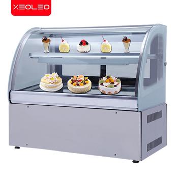 XEOLEO ciasto szafka jedzenie chłodnia gablota świeże przechowywanie szafka chłodnicza ciasto sushi owoce mięso 2-8 ℃ tanie i dobre opinie Inne ≥ 90 cm 251-300l 400 w 220 v 90-160 cm Pojedyncze drzwi Brak CN (pochodzenie) 100l TEMPERED GLASS Chłodzenie mieszane