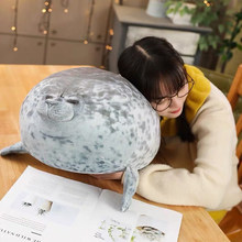 Cute Stuffed Home Sleeping Elastic 3D Doll Aquarium Plush Toy Soft Sea Animals Seal Pillow Eyes Open Party Kids Gift(China)