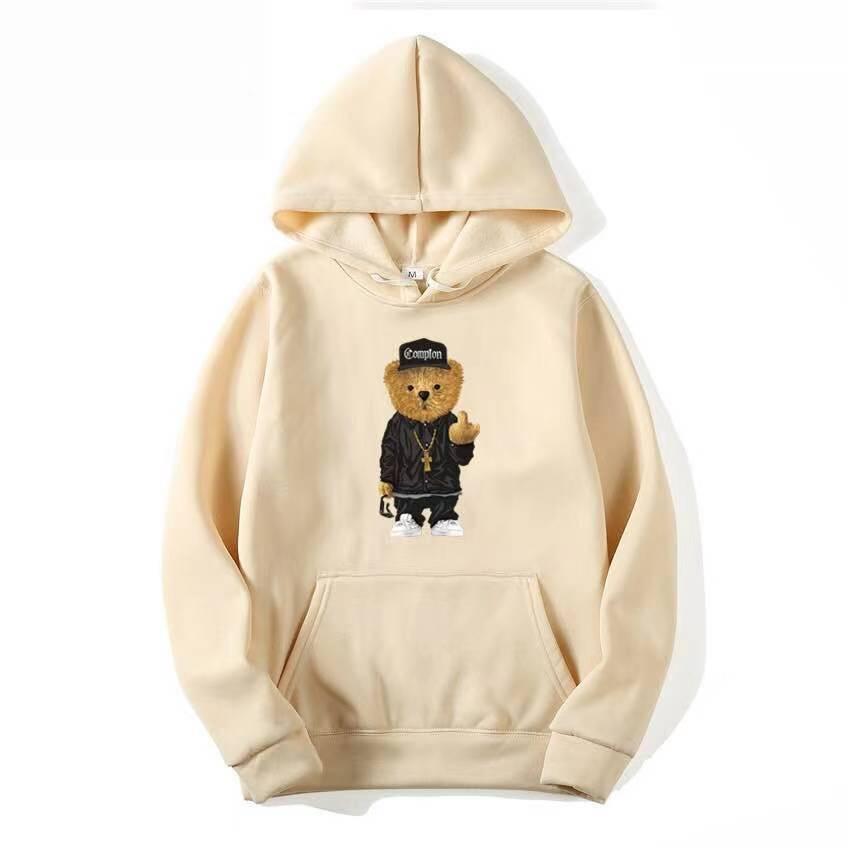 Men Sweatshirt Hoodies Casual Anime cosplay Men Women Pullover Streetwear Cute Bear Print Hoodies