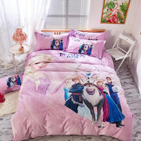 Purple Frozen Bedding Set Twin Size Quilt Duvet Covers for Girls Bed Room Elsa and Anna Coverlets Queen Comforters Cotton Child
