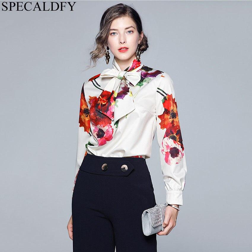 Autumn Blouses Women Long Sleeve Print Shirts Blouse Designer Runway Tops 2019 Women High Quality Fashion Ladies Office Shirt
