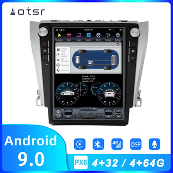 AOTSR Android Car Radio Coche PX6 AutoRadio For Toyota Camry 2012 - 2016 Car Multimedia GPS Tracker DSP CarPlay Autostereo