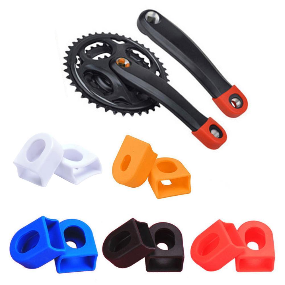 1Pair Silicon Bicycle Crank Arm Boots Protectors Bike Crank Set Parts tools TD
