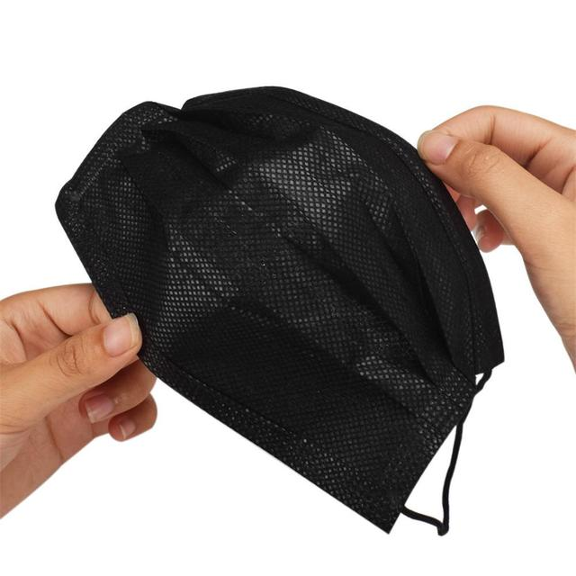 10pcs/Pack Black disposable Health mouth Mask Nonwoven Activated carbon filter Dust Mask Respirator Anti - virus flu Masks 2
