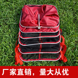 New Style Fishing Gear Square Card Edge Fish Basket Thick Gelatinization Fish Net Quick-Dry Athletic Fish Household Square Fishn