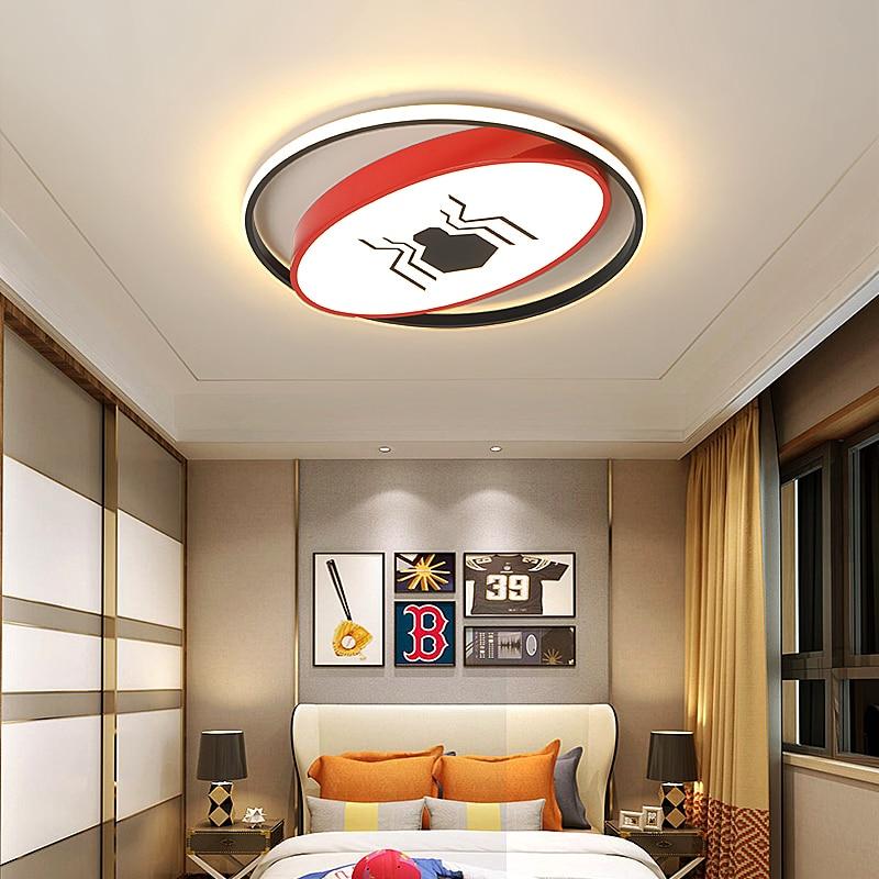 Spider/bat Modern led ceiling lights for childrenroom boy kids room light bedroom plafonnier led home deco Creative ceiling lamp