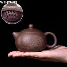 180ml ~ 200ml באיכות גבוהה חדש סגול חול סגול חול קרמיקה אמנות שישי קומקום פורצלן Yixing קליי הסיני תה קומקום מסנן t