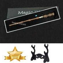 Los alfareros de Snape Voldemort Hermione varitas luz brillante varita mágica varita de Cosplay soporte con caja de regalo para chico juguete