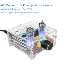 Image 2 - UNISIAN 6J1 מגבר לוח HIFI אלקטרוני מרה הצפת Preamp עם אקריליק תיבת AC12V עבור מגבר