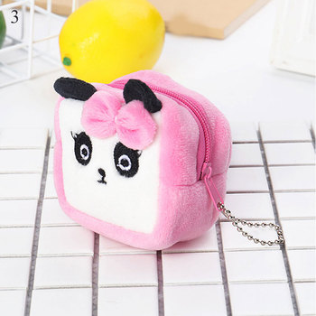 girls Coin Money Wallet Mini Coin Purse Bag Cute Plush Cute Small Coin Wallet zipper Pouch Pocket Kids Handbag Gift image