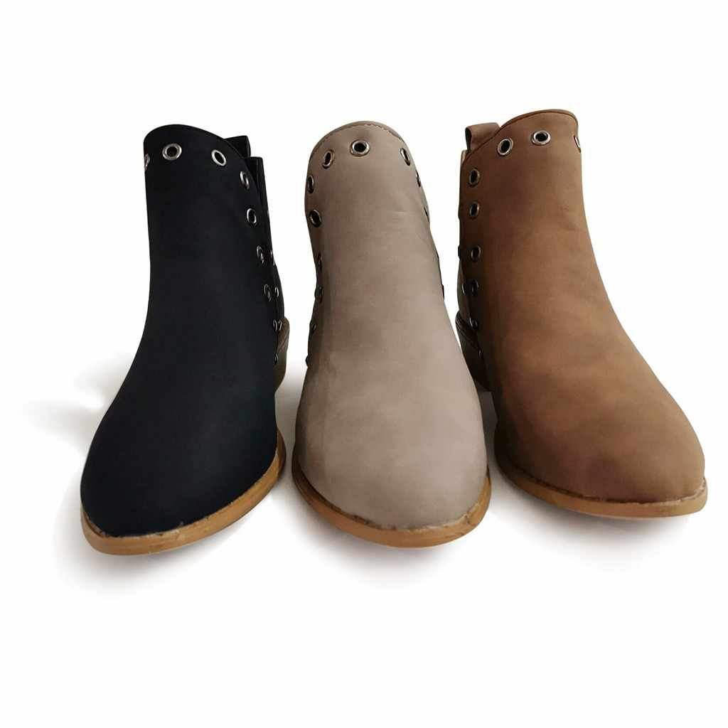 SAGACE ботинки; женские модные полусапожки в стиле ретро с металлическими вырезами; ботильоны; зимние ботинки; женская обувь