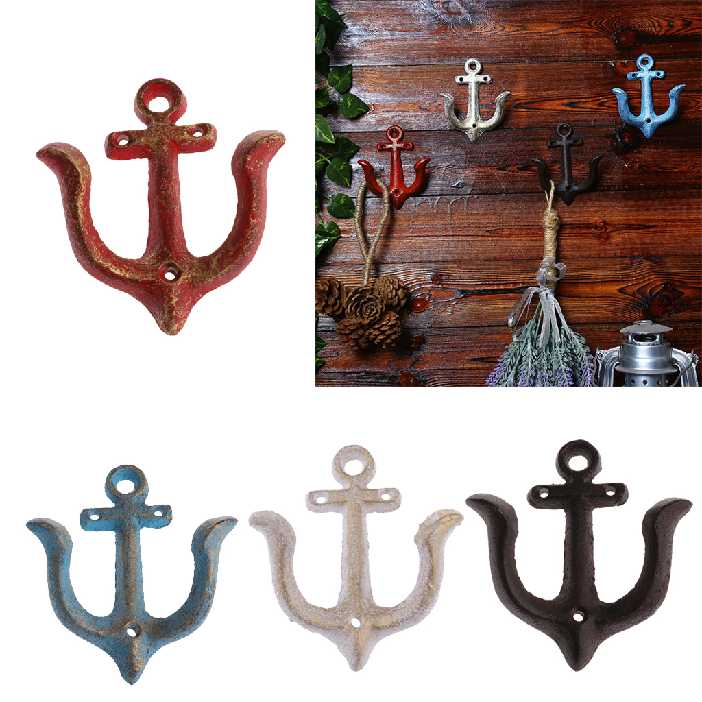1 Piece Unique Design Metal Anchor Hooks Wall Door Mounted Clothes Towel Hat Key Hanger Multi-purpose Hooks 110x90mm