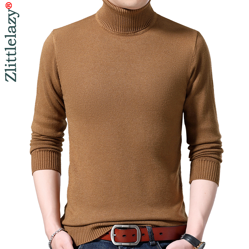2019 Brand Thick Warm Winter Solid Knitted Pull Sweater Men Wear Jersey Dress Turtleneck Pullover Mens Sweaters Fashions 90311