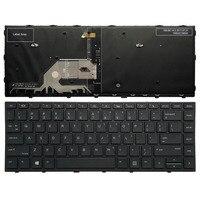 Us backlit teclado do portátil para hp probook 430 g5 440 g5 445 g5 com quadro preto|Teclado de substituição| |  -