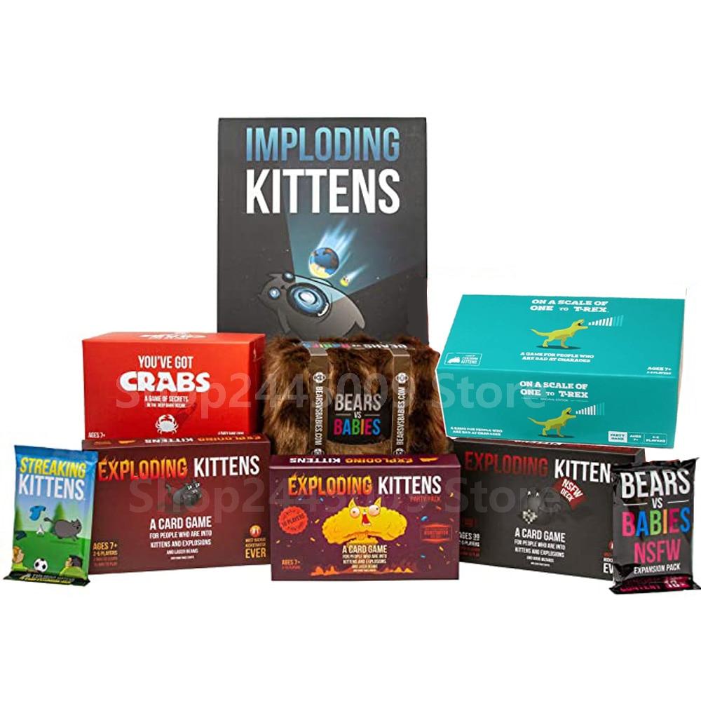 Exploding Kittens Card Game Imploding kittens Streaking Kittens Bears VS Babies for Fun Board Game explosing kittens|Self Defense Supplies|   - AliExpress