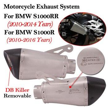 60MM dla BMW S1000 S1000R S1000RR motocykl układ wydechowy zmodyfikowany tłumik Moto ucieczka Laser wymienny DB zabójca Slip On