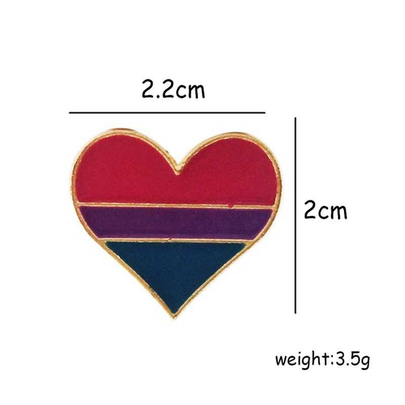 虹ハートエナメルピン記号ピン LGBT レズビアンゲイバッジラペルデニム帽子ブローチ男性女性ユニセックス襟ピンジュエリー