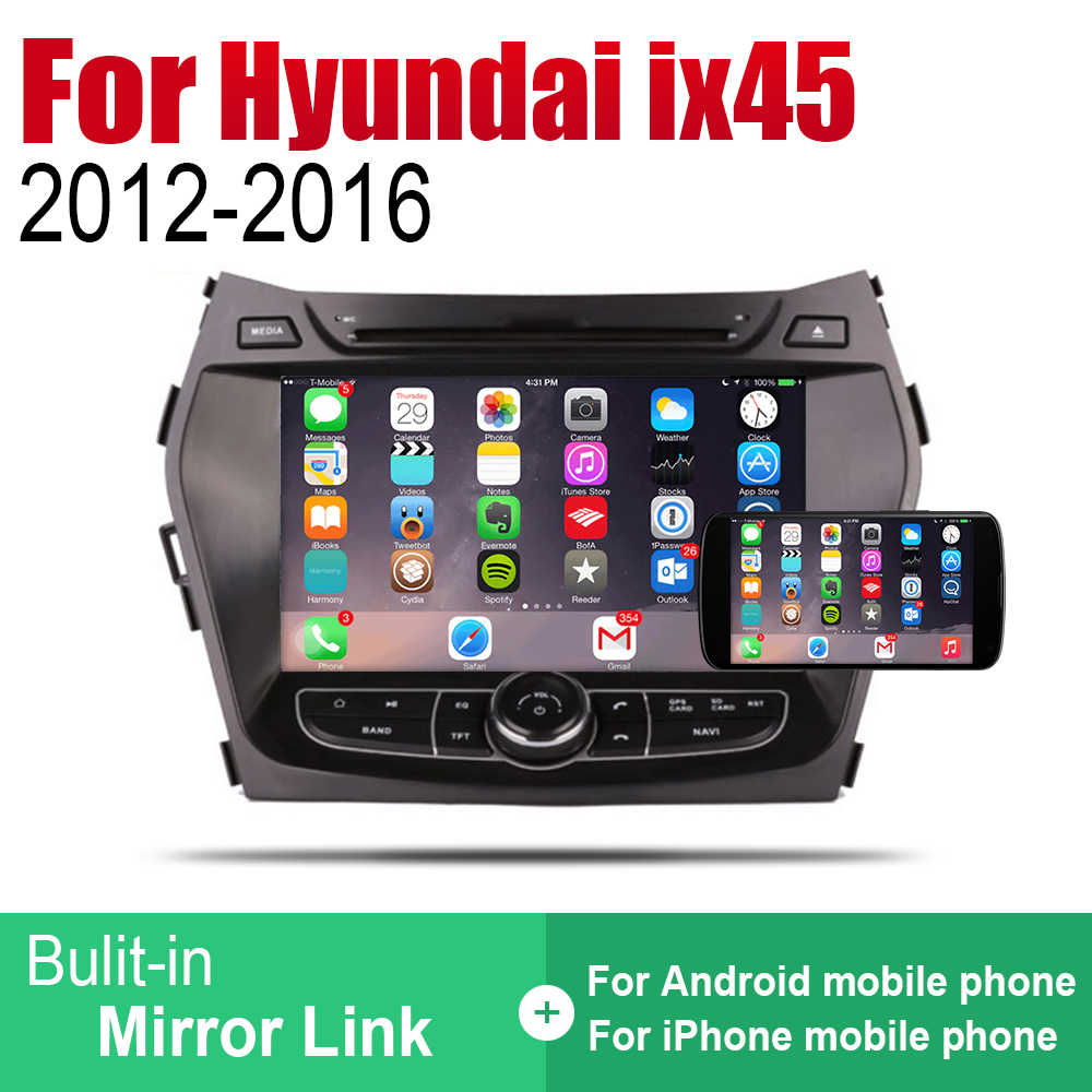 ZaiXi Auto Radio 2 Din Android Car Dvd-speler Voor Hyundai ix45 Santa Fe 2012 ~ 2016 GPS Navigatie BT wifi Kaart Multimedia systeem