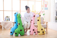 Large Simulation Giraffe Plush Toy Decoration Cute Animal Deer Doll Children's Day Birthday Funny Gift