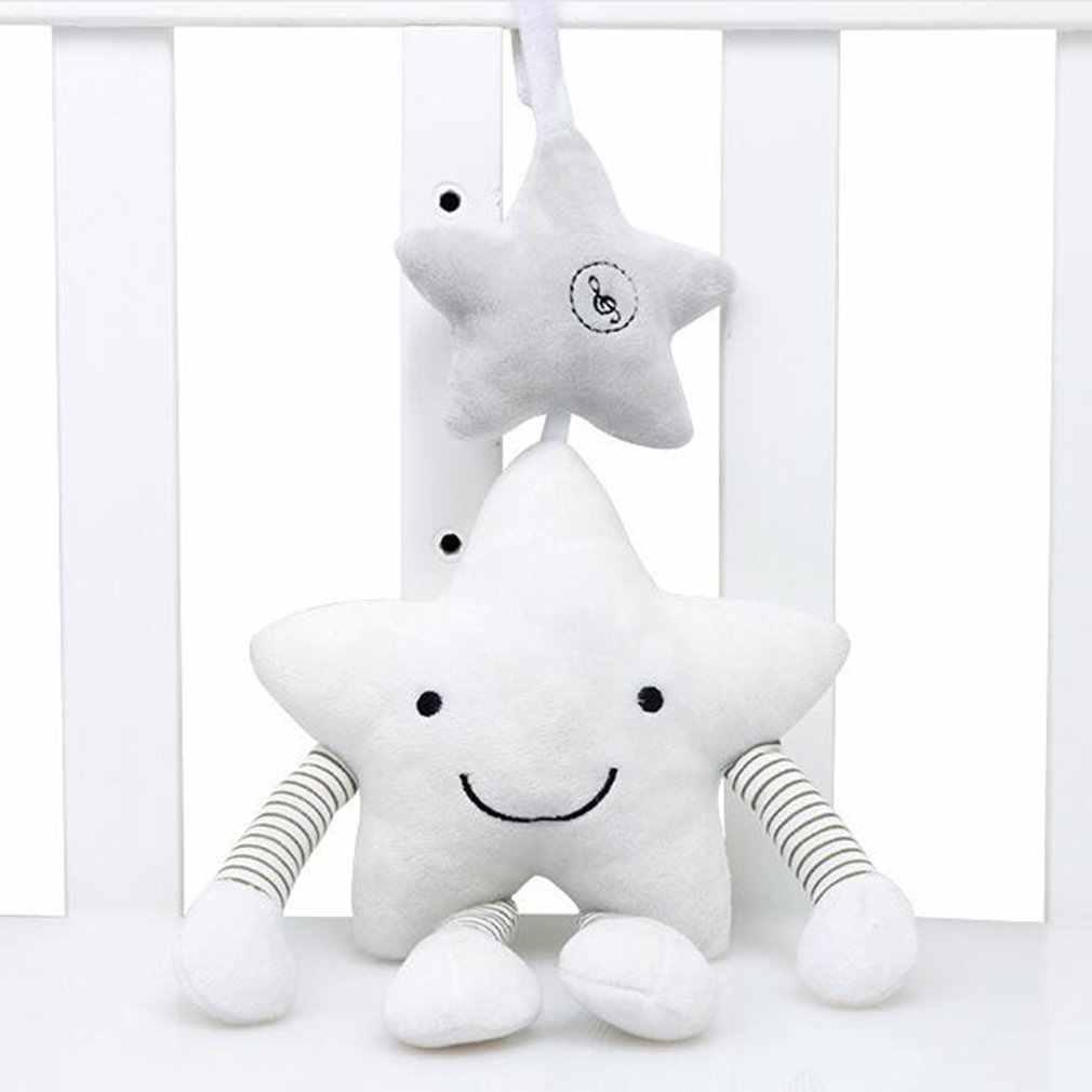 ของเล่นเด็ก 0-12 เดือน Crib Musical เตียงห้าดาว Vocal Bell Rattles การ์ตูน PROJECTION การเรียนรู้ plush ของเล่น