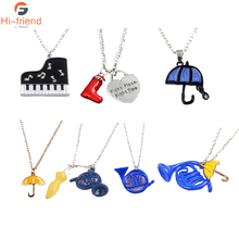 Hot Movie How I Met Your Mother Series Pendants Necklace Black Enamel Piano Necklaces Women Girls Jewelry Accessories