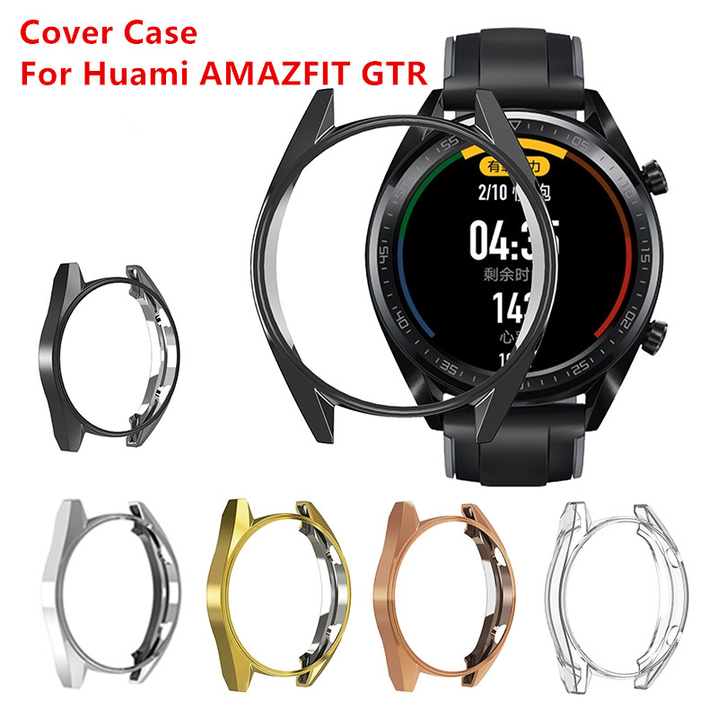 1PC TPU Soft Protective Cover Case For Huami AMAZFIT GTR 47mm Slim Screen Protector Case Cover Shell Smart Watch Accessories