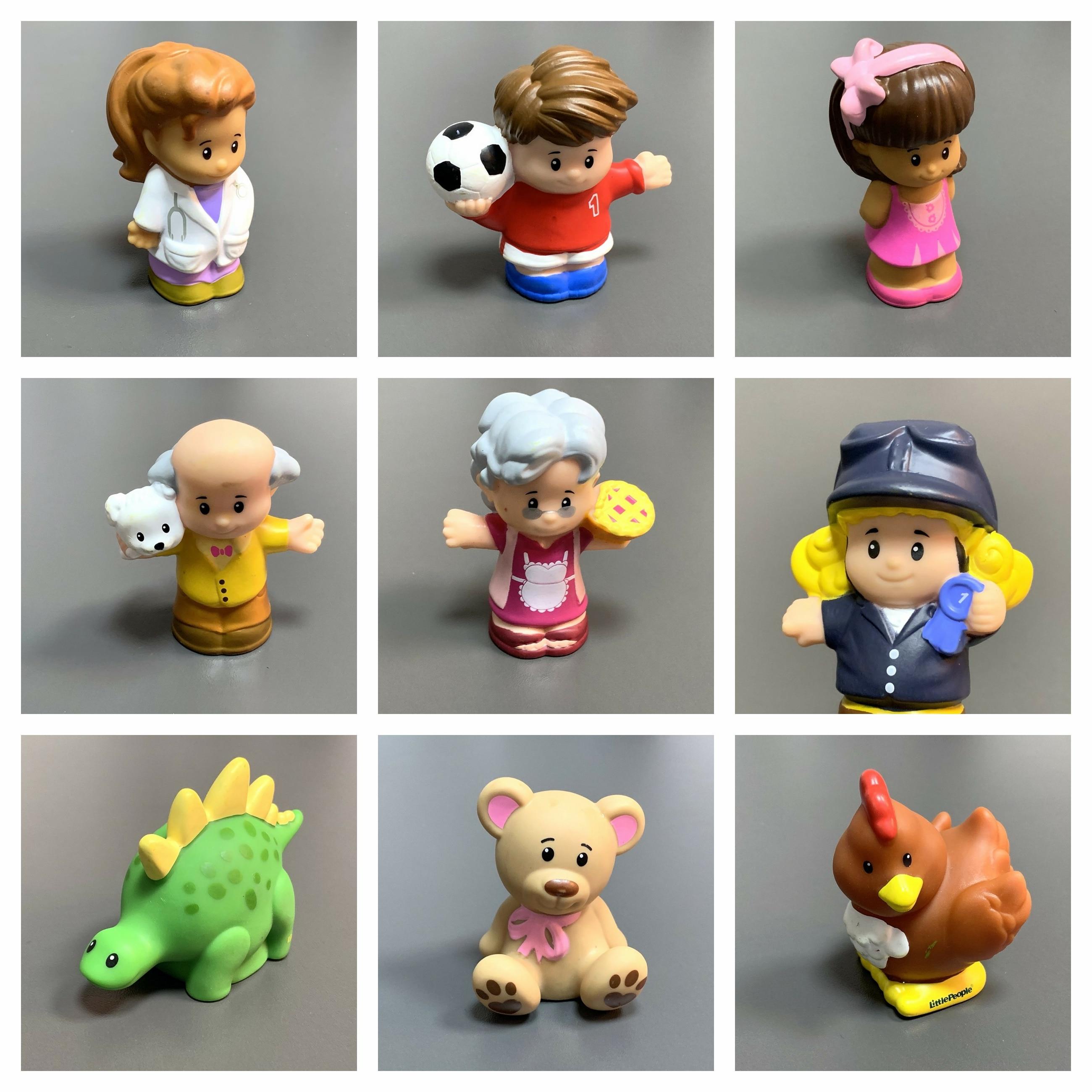 Fisher little doll mini pessoas zoo animal figura de ação menino dos desenhos animados bonecas brinquedos bonito das crianças presente natal