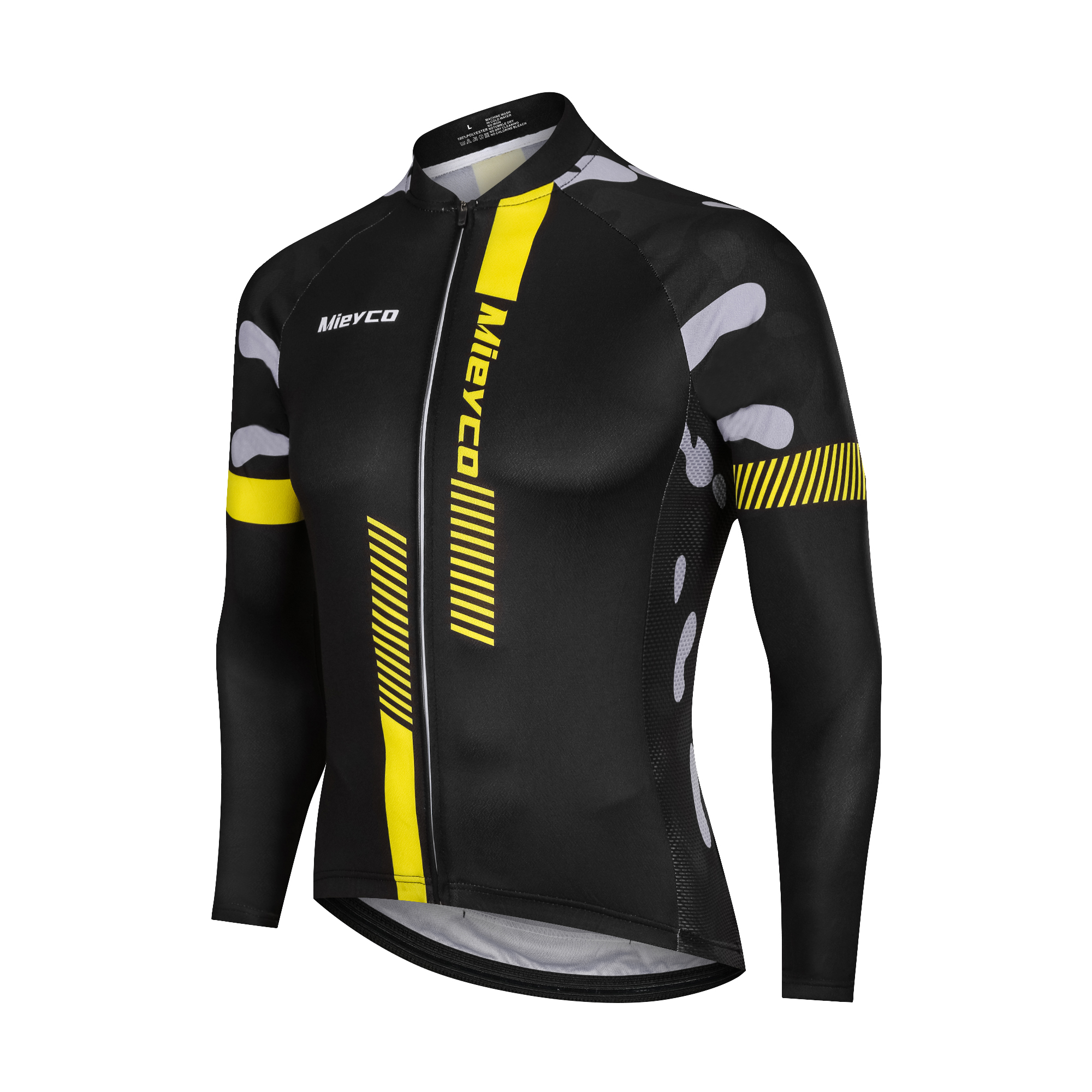 2020 Мужская Велоспорт Джерси с длинными рукавами высокое упругий велосипед рубашки, детские футболки на осень и весну, велосипедная Одежда Т...
