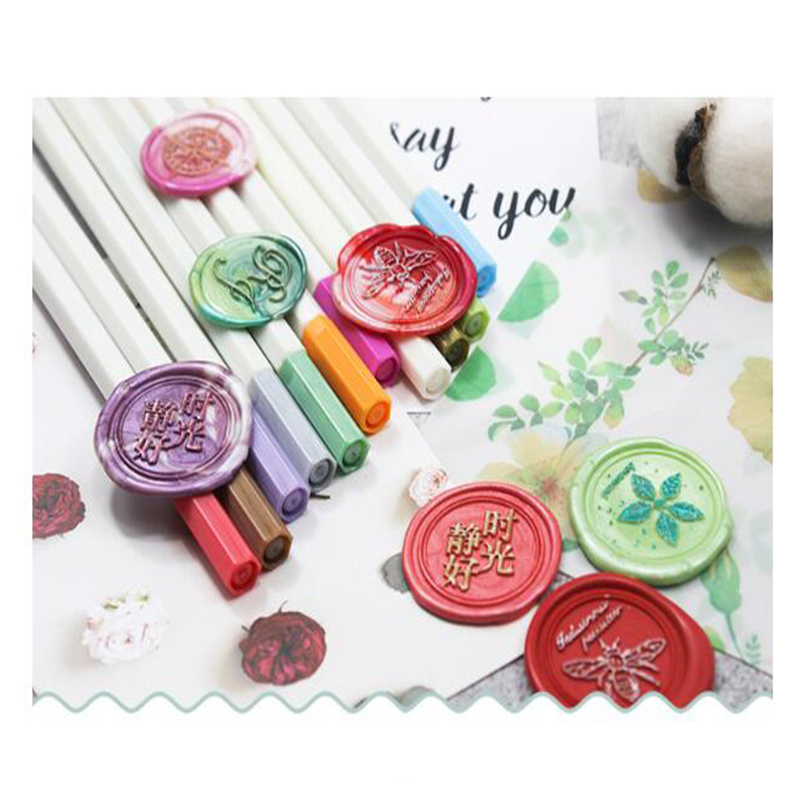 1pc Color Pen For Wax Seal Stamp Mark Pen Decoration Wax Seal Metal Gold Color Pen Metallic Tracing Line Pen 11Color