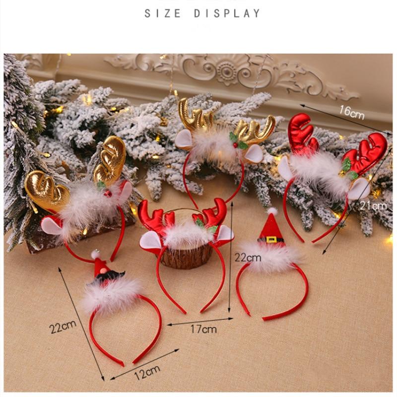 Рождественская шапка, повязка на голову, Рождественская декоративная шапка, повязка на голову, косплей, вечерние, шоу, повязка на голову, обруч для волос аксессуары для взрослых детей, Navidad