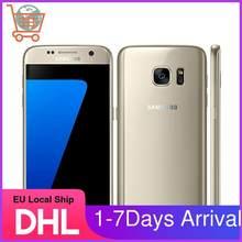 Samsung galaxy s7 desbloqueado, 4g telefones celulares, samsung s7 g930v g930f 5.1 polegadas 4gb 32gb nfc, g930a g930v g930f samsung smartphone