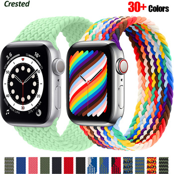 Braided Solo Loop For Apple watch band 44mm 40mm 38mm 42mm FABRIC Nylon Elastic belt bracelet iWatch series 3 4 5 se 6 strap 1