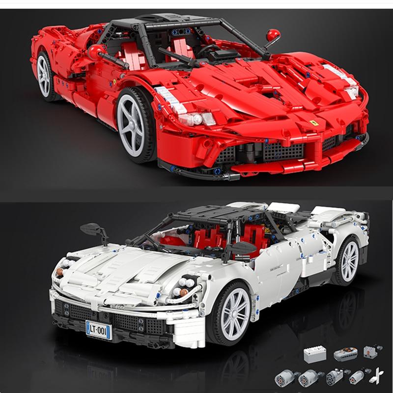 DHL IN STOCK Winner 7050 2209Pcs 7051 2461Pcs MOC RC Super Sport Car With Motor Building Blocks Bricks Toys Children Boy Gifts