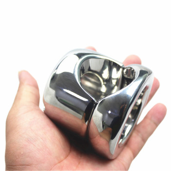 Stainless Steel Male Root Ring Bound Scrotum Pendant Stretching Scrotal Hole Restraint Penis Casing Sleeve Sex Toys for Men B246