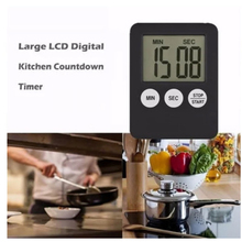 1 Pcs Mini Super Thin LCD Digital Screen Kitchen Timer Square Cooking Count Up Countdown Alarm Magnet Clock Timer 2020 mini kitchen clock digital lcd cooking timer stopwatch count down up clock square cooking timer alarm 100 minutes