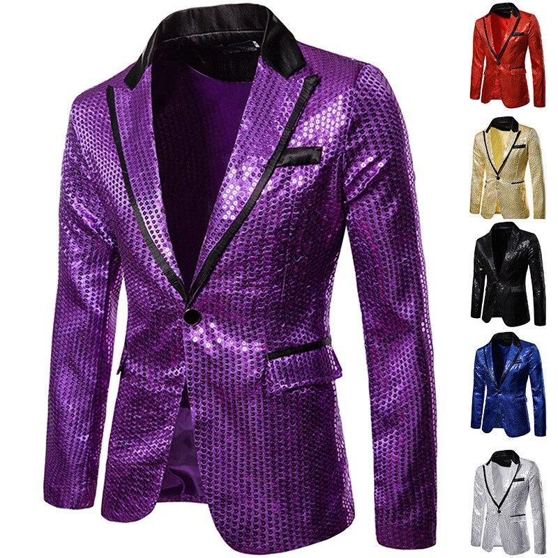 Formal Escritório One Button Brasão Suit Blazer
