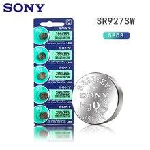 5pcs 100% Original SONY 395 SR927SW 399 SR927W AG7 LR927 1.55V Óxido De Prata Botão Célula Tipo Moeda Para O Relógio de Brinquedo Bateria MADE IN JAPAN